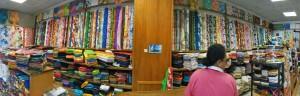 Im Stoffladen 'Venus' in Papeete.
