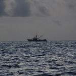 The only boat we saw in 13 days: a fishing vessel.
