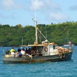 Local fishing vessel in Neiafu.