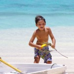 Bruno having endless fun in the crystal clear water