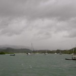 A look towards the Savusavu Marina in the back of the bay