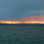 Sonnenuntergang im Mund des Nasilai River