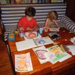 Abendliches Malen und Basteln