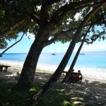 Vor Anker im Westen der Insel Yanuca