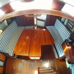 The saloon - seen from the companionway