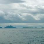 Ein letzter Blick zurueck auf die Inseln von Fiji