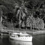 Historische Motorboot-Schoenheit