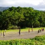 Fussball am Fusse des Vulkans
