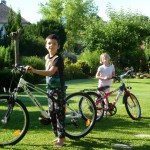 And the kids get long awaited bicycles !