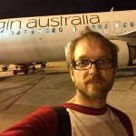 Um Mitternacht dann in Brisbane