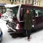 Ein bisschen Winter in Berlin - und unser neues Land-Segelschiff ;-)
